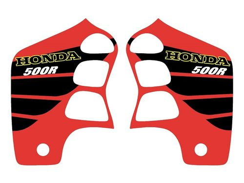 1989-2001 Honda CR500 Red Shroud Decals with Big Wing