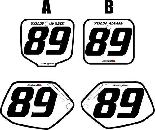 1991-2001 Honda CR500 White Pre-Printed Background - Black Bold Pinstripe by FactoryRide
