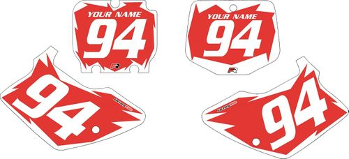 1994-1998 Kawasaki KX125 Custom Pre-Printed Red Background - White Shock Series by Factory Ride