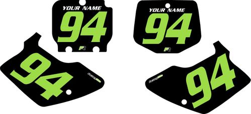 1994-1998 Kawasaki KX125 Pre-Printed Backgrounds Black - Green Numbers by FactoryRide
