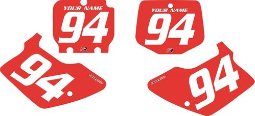 1994-1998 Kawasaki KX250 Custom Pre-Printed Red Background - White Numbers by Factory Ride