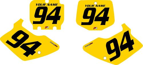 1994-1998 Kawasaki KX250 Custom Pre-Printed Yellow Background - Black Numbers by Factory Ride