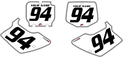 1994-1998 Kawasaki KX250 Custom White Pre-Printed Background - Black Pinstripe by Factory Ride