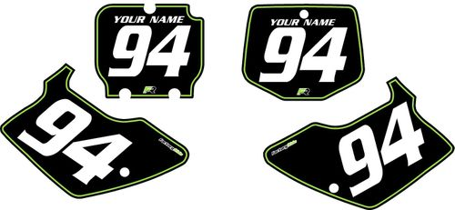 1994-1998 Kawasaki KX250 Pre-Printed Backgrounds Black - Green Pinstripe by FactoryRide