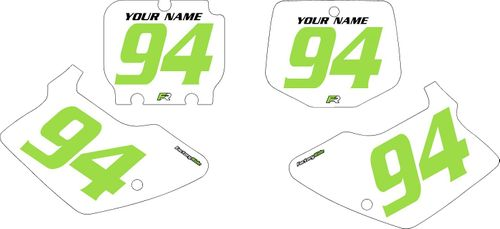 1994-1998 Kawasaki KX250 Pre-Printed Backgrounds White - Green Numbers by FactoryRide