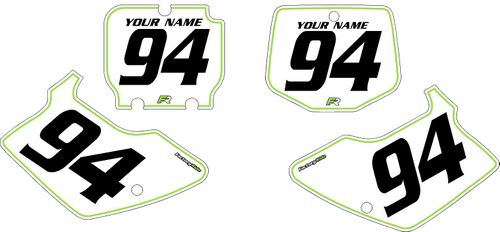 1994-1998 Kawasaki KX250 Pre-Printed Backgrounds White - Green Pinstripe by FactoryRide