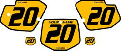 1996-2004 Kawasaki KX500 Custom Pre-Printed Yellow Background - Black Bold Pinstripe by Factory Ride