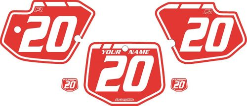 1996-2004 Kawasaki KX500 Red Pre-Printed Backgrounds - White Retro by FactoryRide