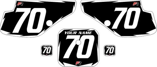 1997-2000 Honda XR70 Black Pre-Printed Backgrounds - White Shock by FactoryRide