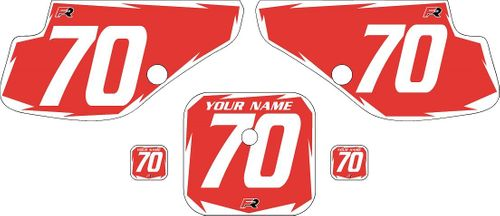 1997-2000 Honda XR70 Red Pre-Printed Backgrounds - White Shock by FactoryRide
