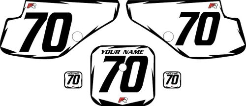 1997-2000 Honda XR70 White Pre-Printed Backgrounds - Black Shock by FactoryRide
