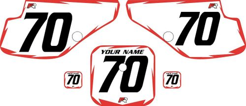 1997-2000 Honda XR70 White Pre-Printed Backgrounds - Red Shock by Factory Ride