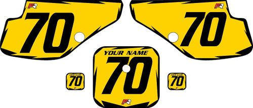 1997-2000 Honda XR70 Yellow Pre-Printed Backgrounds - Black Shock by FactoryRide