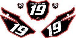2019-2021 Honda CRF110 Black Pre-Printed Backgrounds - Red Bold Pinstripe by FactoryRide