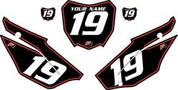 2019-2021 Honda CRF110 Black Pre-Printed Backgrounds - Red Pinstripe by FactoryRide
