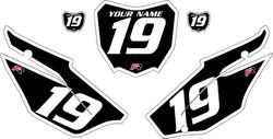 2019-2021 Honda CRF110 Black Pre-Printed Backgrounds - White Bold Pinstripe by FactoryRide