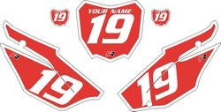 2019-2021 Honda CRF110 Red Pre-Printed Backgrounds - White Bold Pinstripe by FactoryRide