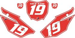 2019-2021 Honda CRF110 Red Pre-Printed Backgrounds - White Pinstripe by FactoryRide