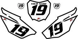 2019-2021 Honda CRF110 White Pre-Printed Backgrounds - Black Bold Pinstripe by FactoryRide