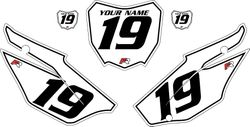 2019-2021 Honda CRF110 White Pre-Printed Backgrounds - Black Pinstripe by FactoryRide