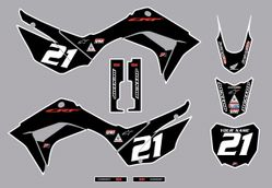2019-2021 Honda CRF110 Bold Series Graphics Kit by Factory Ride (Black)
