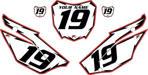 2019-2021 Honda CRF110 White Backgrounds - Red Pro Shock by FactoryRide