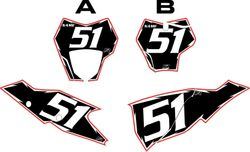 2021 Gas Gas 125-450 Black Pre-Printed Backgrounds - Red Pro Shock by FactoryRide