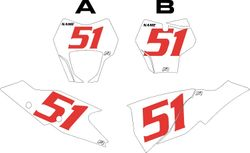 2021 Gas Gas 125-450 White Pre-Printed Backgrounds - Red Numbers by FactoryRide