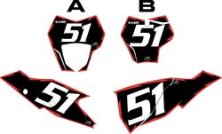 2021 Gas Gas 125-450 Black Pre-Printed Backgrounds - Red Shock by FactoryRide