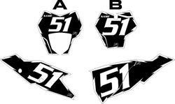 2021 Gas Gas 125-450 Black Pre-Printed Backgrounds - White Shock by FactoryRide