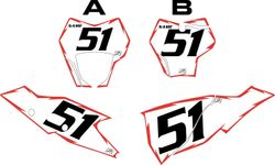 2021 Gas Gas 125-450 White Pre-Printed Backgrounds - Red Shock by FactoryRide