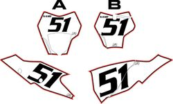 2021 Gas Gas 125-450 White Pre-Printed Backgrounds - Red Pro Pinstripe by FactoryRide