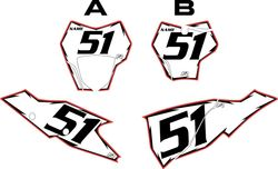 2021 Gas Gas 125-450 White Pre-Printed Backgrounds - Red Pro Shock  by FactoryRide