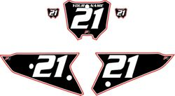 2021 Honda CRF450 Black Pre-Printed Backgrounds - Red Pro Pinstripe by FactoryRide