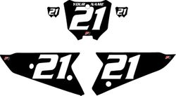 2021 Honda CRF450 Black Pre-Printed Backgrounds - White Numbers by FactoryRide