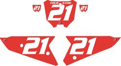 2021 Honda CRF450 Red Pre-Printed Backgrounds - White Numbers by FactoryRide