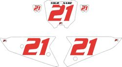 2021 Honda CRF450 White Pre-Printed Backgrounds - Red Numbers by Factory Ride