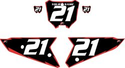 2021 Honda CRF450 Black Pre-Printed Backgrounds - Red Shock by FactoryRide