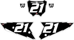 2021 Honda CRF450 Black Pre-Printed Backgrounds - White Shock by FactoryRide