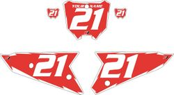 2021 Honda CRF450 Red Pre-Printed Backgrounds - White Shock by FactoryRide