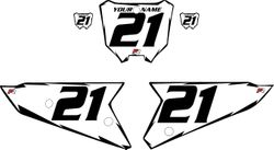 2021 Honda CRF450 White Pre-Printed Backgrounds - Black Shock by FactoryRide