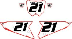 2021 Honda CRF450 White Pre-Printed Backgrounds - Red Shock by Factory Ride