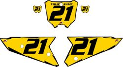 2021 Honda CRF450 Yellow Pre-Printed Backgrounds - Black Shock by FactoryRide
