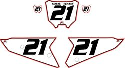 2021 Honda CRF450 White Pre-Printed Backgrounds - Red Pro Pinstripe by FactoryRide