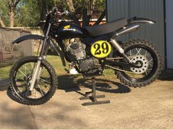 Customer 1979 Honda XR500 Yellow with Black pinstripe Vintage Oval Decals