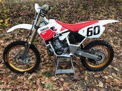Customers 2000-2001 YZ250 Decals White with Black Number by Factory Ride
