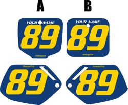 Fits Honda CR500 1991-2001 Blue Pre-Printed Backgrounds - Yellow Numbers by FactoryRide