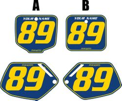 Fits Honda CR500 1991-2001 Blue Pre-Printed Backgrounds - Yellow Pinstripe by FactoryRide