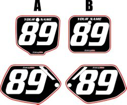 Honda CR500 1991-2001 Pre-Printed Backgrounds Black - Red Pro Pinstripe by FactoryRide