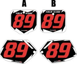 Honda CR500 1991-2001 Pre-Printed Backgrounds Black - White Shock -  Red Number by FactoryRide